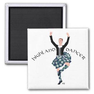 Scottish Dancer Highland Fling Square Magnet