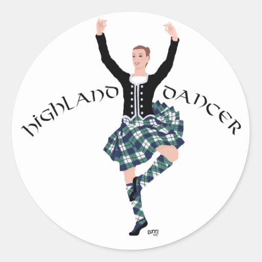 Scottish Dancer Highland Fling Stickers