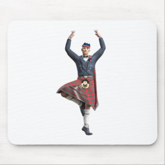 Scottish Dancer with Both Hands up Mouse Pad