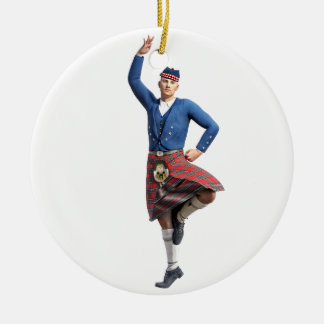 Scottish Dancer with Right Hand Up Christmas Ornament