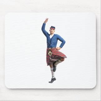 Scottish Dancer with Right Hand Up Mouse Pad