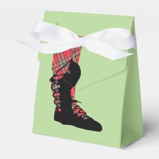 Scottish Dancing Feet Tartan Peraonalized Party Wedding Favour Box
