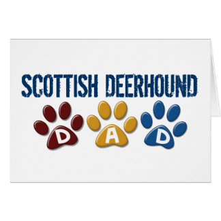 SCOTTISH DEERHOUND Dad Paw Print 1 Greeting Card