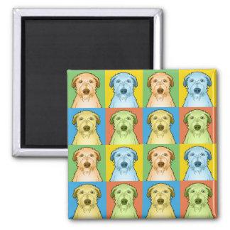 Scottish Deerhound Dog Cartoon Pop-Art Magnet