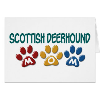 SCOTTISH DEERHOUND Mom Paw Print 1 Greeting Card