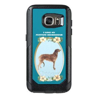 Scottish Deerhound on Teal Floral OtterBox Samsung Galaxy S7 Case