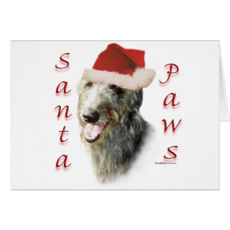 Scottish Deerhound Santa Paws Card