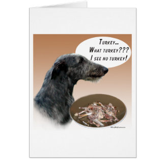 Scottish Deerhound Turkey Greeting Cards