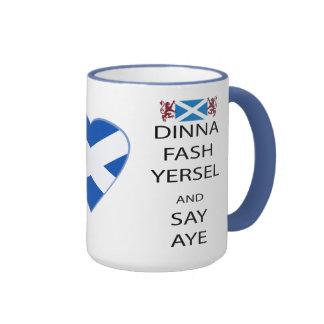 Scottish Dinna Fash Yersel Say Yes Mug