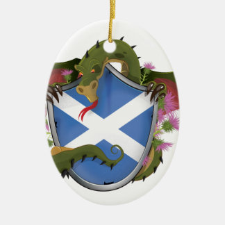 Scottish Dragon Christmas Ornament