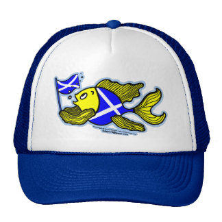 Scottish Fish with Scottish Flag Mesh Hats