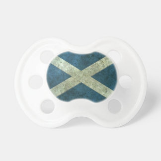 Scottish Flag Aged Steel Effect Baby Pacifier