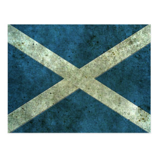 Scottish Flag Aged Steel Effect Postcard