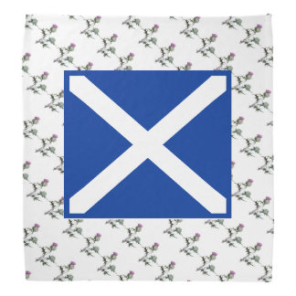 Scottish Flag and Thistle Art Bandana