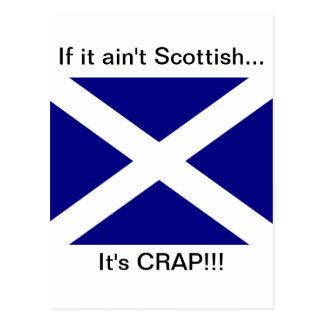 Scottish Flag clothing Postcard