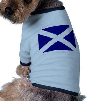 Scottish Flag clothing Ringer Dog Shirt