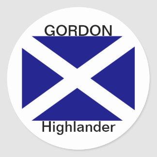 Scottish Flag clothing Round Sticker
