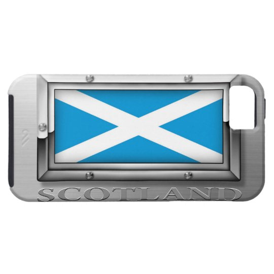 Scottish Flag in Steel Frame iPhone 5 Case