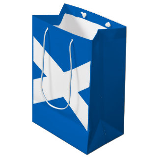 Scottish flag medium gift bag