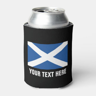 Scottish flag of Scotland custom beer can coolers