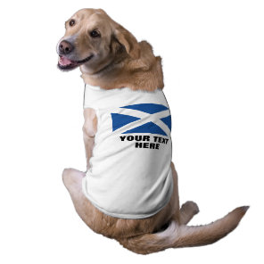 Scottish flag of Scotland custom pet dog clothing