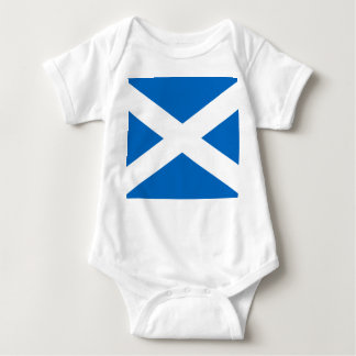 Scottish Flag of Scotland Saint Andrew's Cross Baby Bodysuit