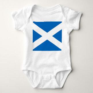Scottish Flag of Scotland Saint Andrew's Cross Baby Bodysuit