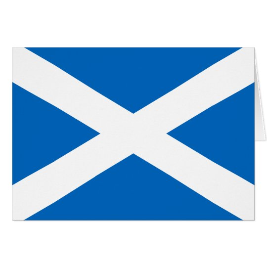 Scottish Flag of Scotland Saint Andrew's Cross Card