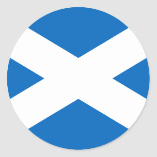 Scottish Flag of Scotland Saint Andrew's Cross Classic Round Sticker