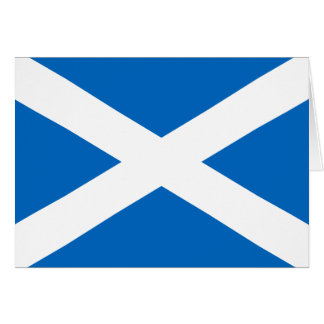 Scottish Flag of Scotland Saint Andrew's Cross Greeting Card