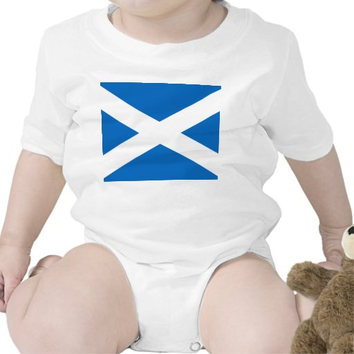Scottish Flag of Scotland Saint Andrew's Cross Bodysuit