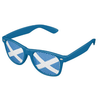 Scottish flag retro sunglasses