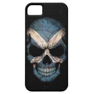 Scottish Flag Skull on Black iPhone 5 Case