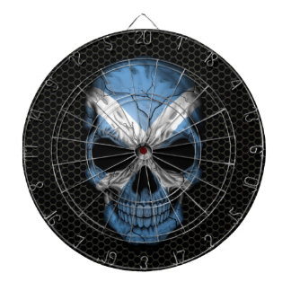 Scottish Flag Skull on Steel Mesh Graphic Dartboard