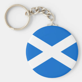 Scottish Flag T-shirts and Gifts Basic Round Button Key Ring