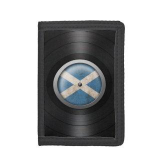 Scottish Flag Vinyl Record Album Graphic Trifold Wallet