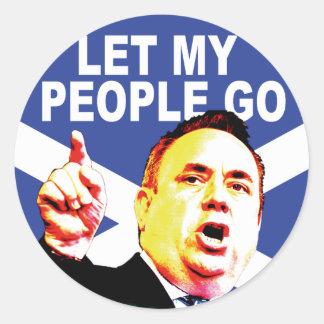 Scottish flag with Alex Salmond Stickers