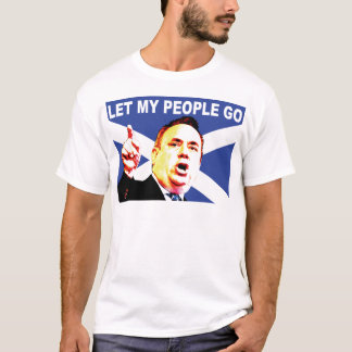 Scottish flag with Alex Salmond T-Shirt