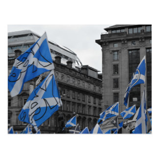 Scottish Flags Fly Proudly in Glasgow Postcard