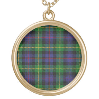 Scottish Flair Clan Farquharson Tartan Gold Plated Necklace