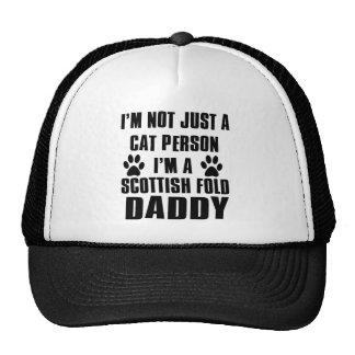 Scottish Fold Cat breed design Mesh Hat