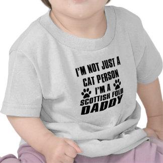 Scottish Fold Cat breed design Tee Shirt