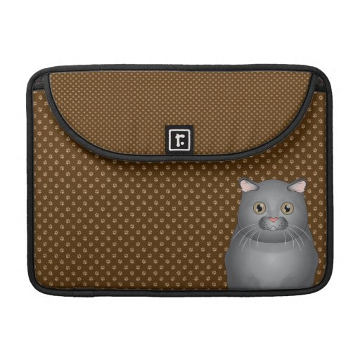 Scottish Fold Cat Cartoon Paws Sleeves For MacBook Pro