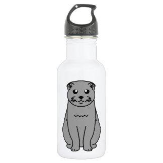 Scottish Fold Cat Cartoon 532 Ml Water Bottle