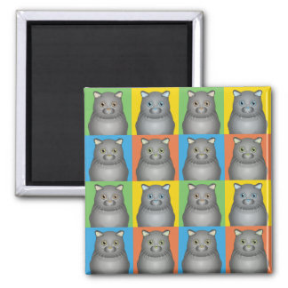 Scottish Fold Cat Cartoon Pop-Art Magnet