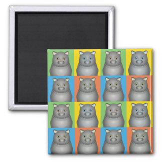 Scottish Fold Cat Cartoon Pop-Art Square Magnet