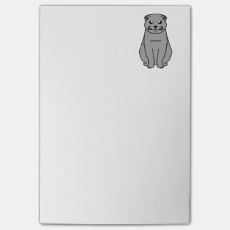 Scottish Fold Cat Cartoon Post-it Notes