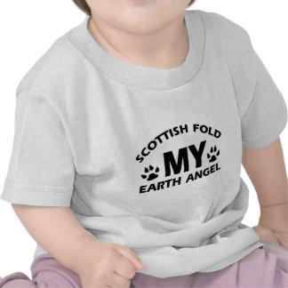 Scottish fold cat design tee shirt