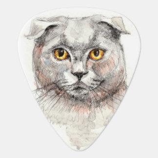 Scottish Fold Cat Guitar Pick