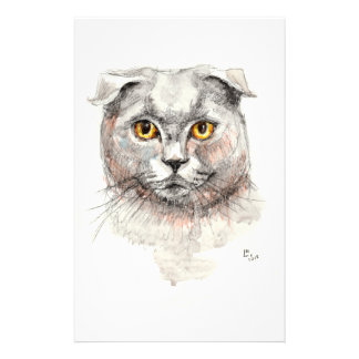 Scottish Fold Cat Stationery